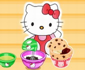 Hello Kitty Choc Chip Jelly Muffins