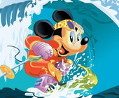 sort my tiles mickey mouse surfing